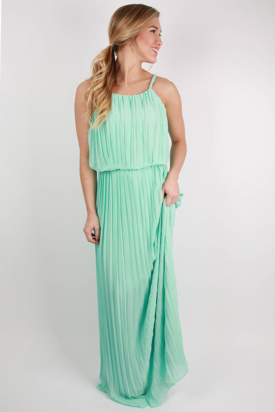Lola Divine Maxi Dress in Light Aqua
