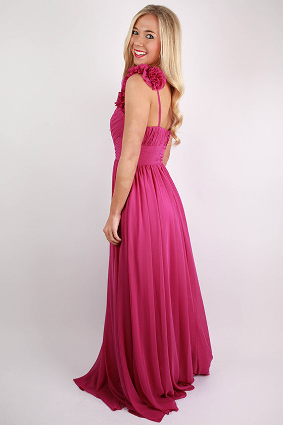 Prettiest Peonies Maxi Dress in Orchid