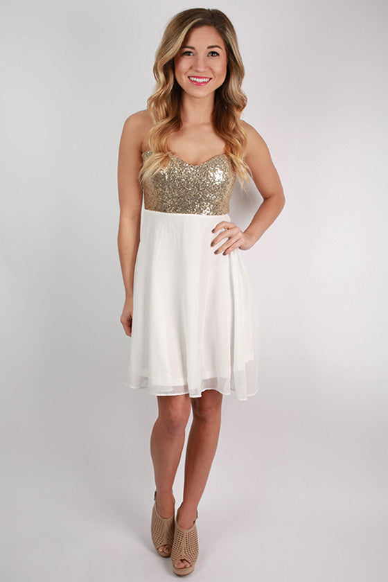 For The Twirl Of It Mini Dress in White