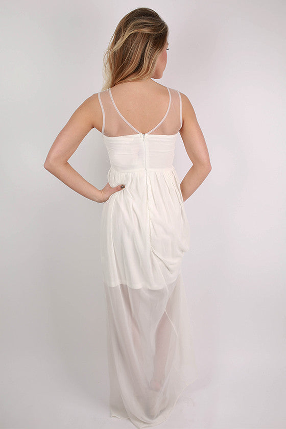 Modern Beauty Maxi Dress in White