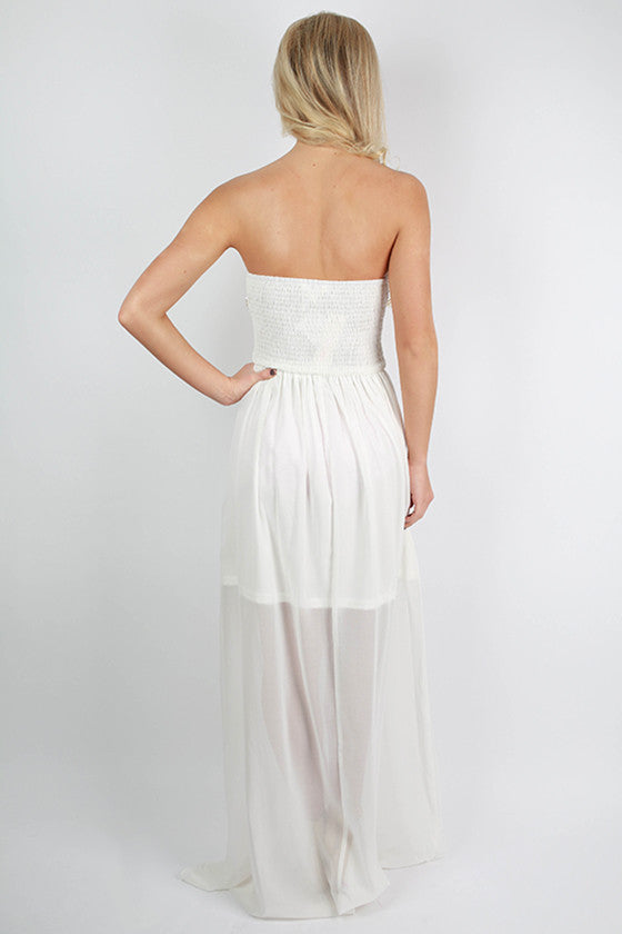 Romance Me Maxi Dress in White