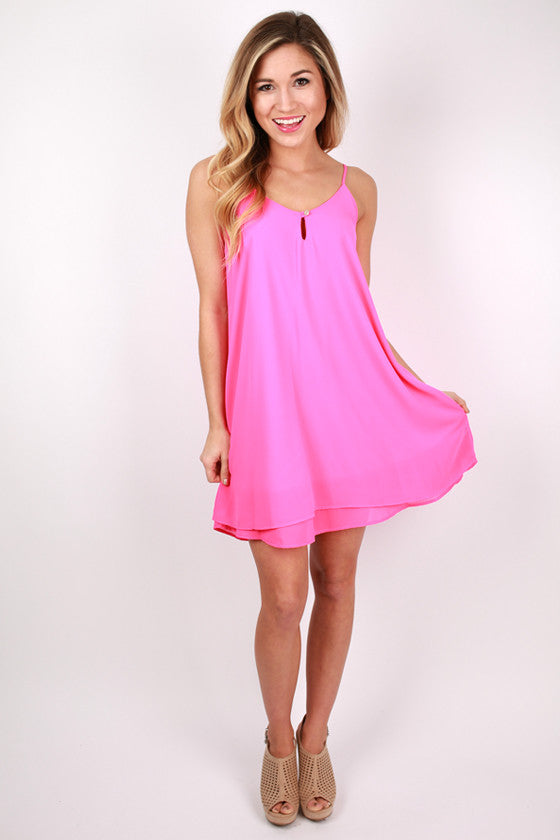 Perfect Date Dress in Hot Pink