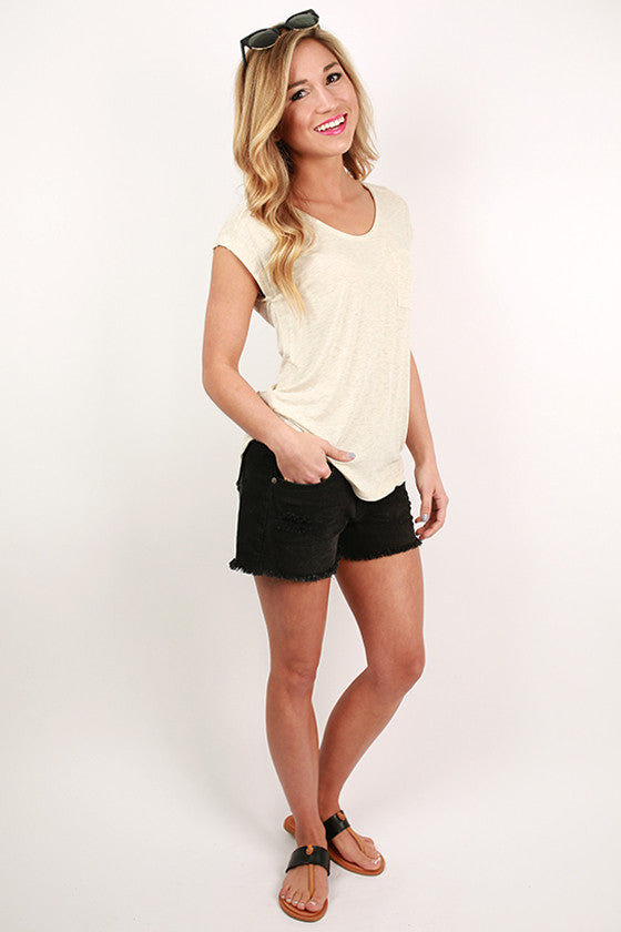 Not So Basic Cut Off Shorts in Black