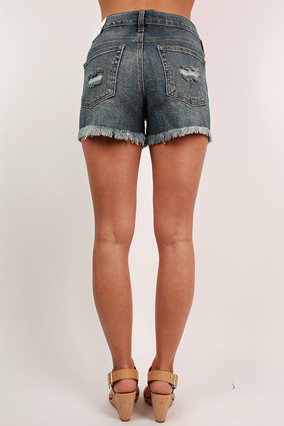 Not So Basic Cut Off Shorts in Medium Blue