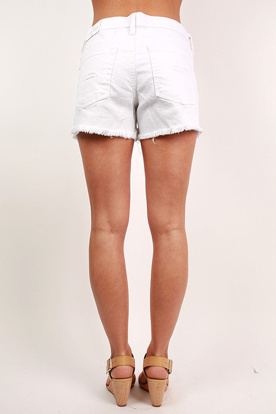 Not So Basic Cut Off Shorts in White