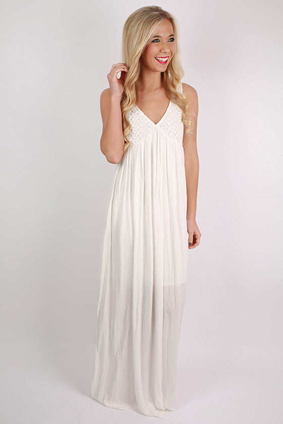 Beach Breezy Maxi Dress in White