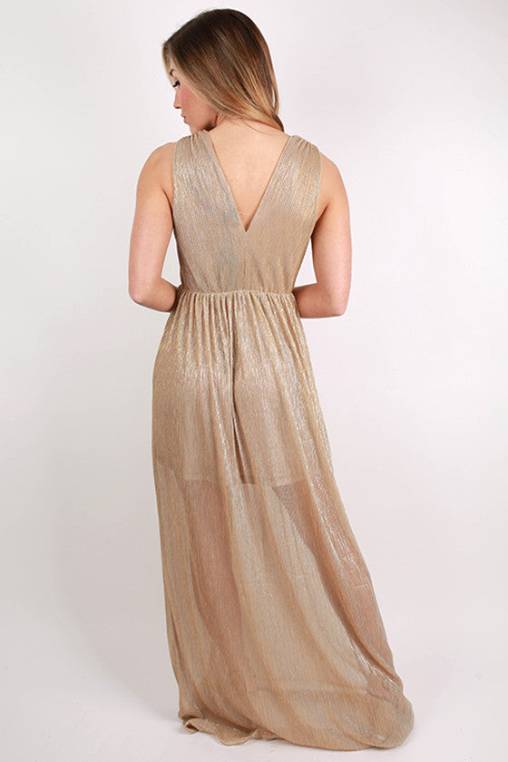 Golden Girl Maxi Dress