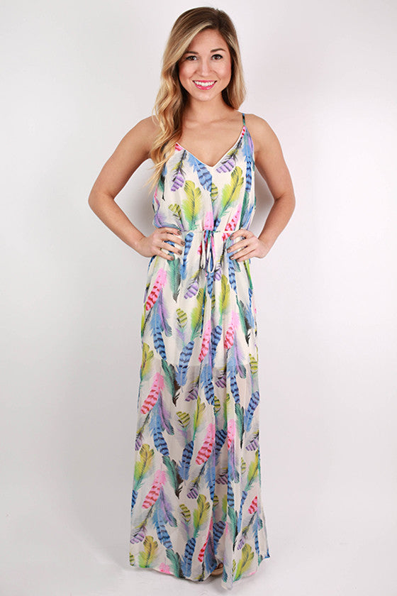 Turning Heads Maxi Dress in Ivory