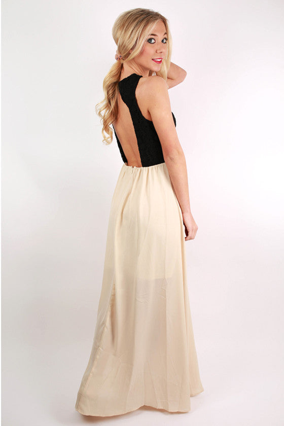 Color Crush Maxi Dress in Black