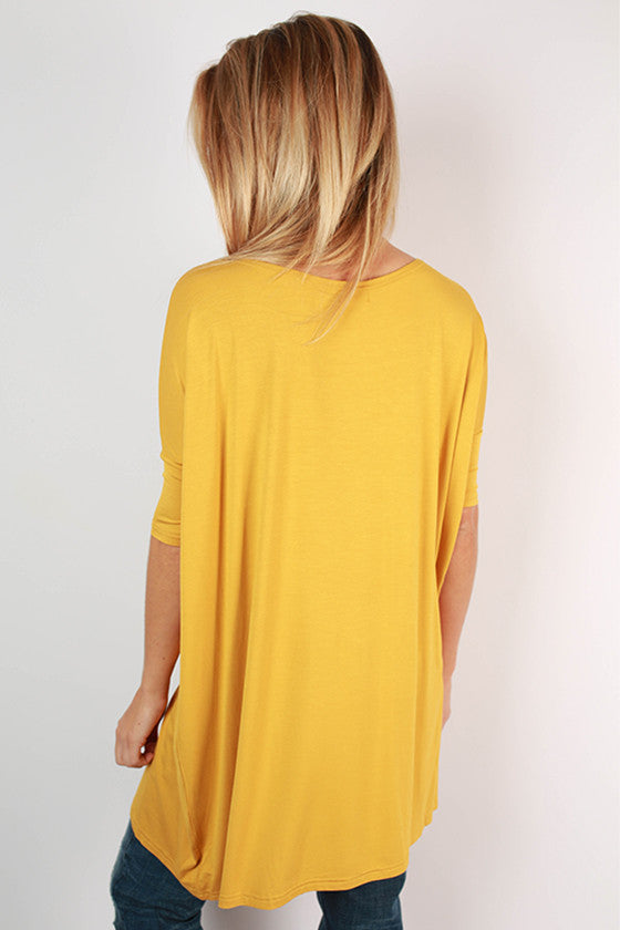 PIKO Mini Short Sleeve Tunic in Dark Gold