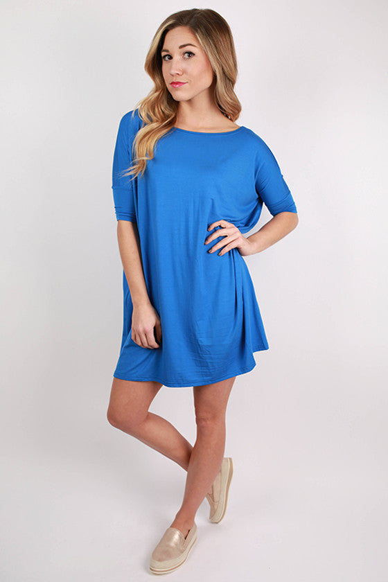 PIKO Mini Short Sleeve Tunic in Blue