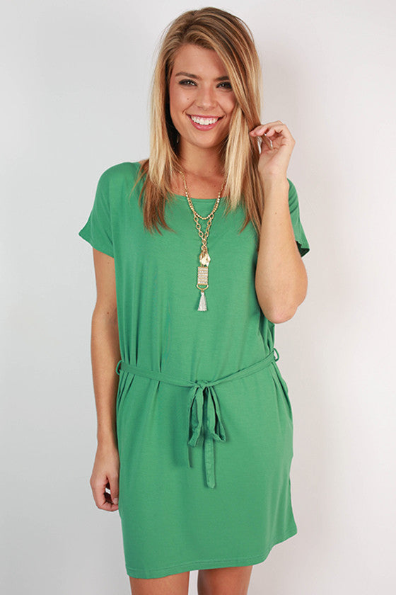 PIKO Relaxed Fit Dress in Turquoise