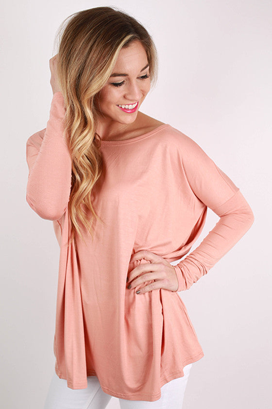 PIKO Long Sleeve Tee in Dark Nude