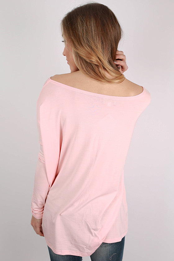 PIKO Long Sleeve Tee in Light Peach