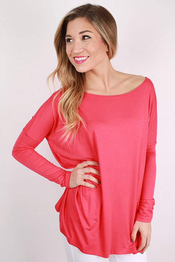 PIKO Long Sleeve Tee in Watermelon
