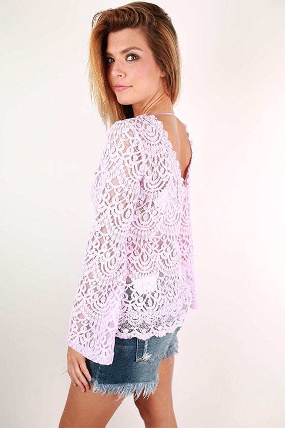 Sunny Days Forever Top in Dusty Purple