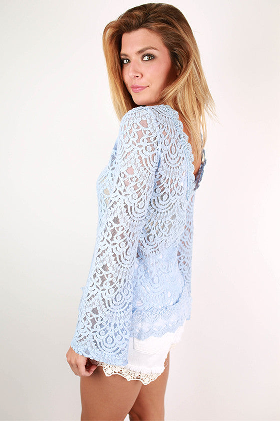 Sunny Days Forever Top in Sky Blue