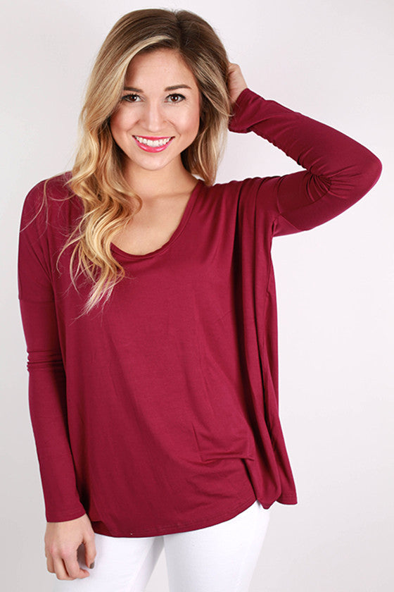 PIKO Tee Scoop Neck in Royal Lilac