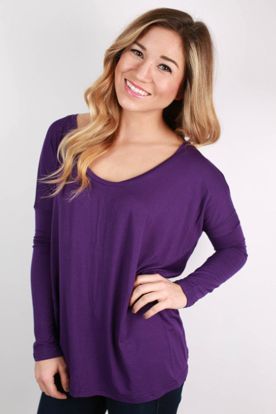 PIKO Tee Scoop Neck in Purple
