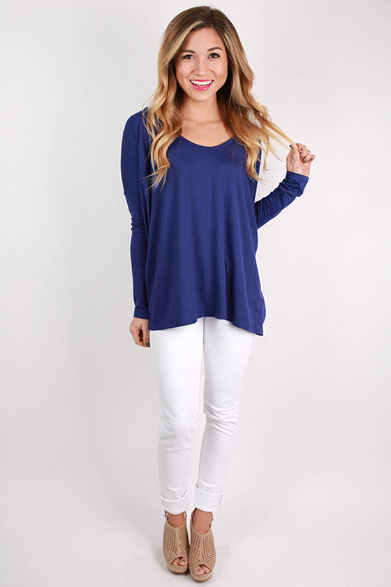 PIKO Tee Scoop Neck in Violet