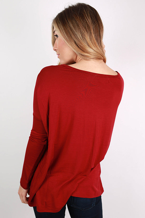 PIKO Tee Scoop Neck in Garnet