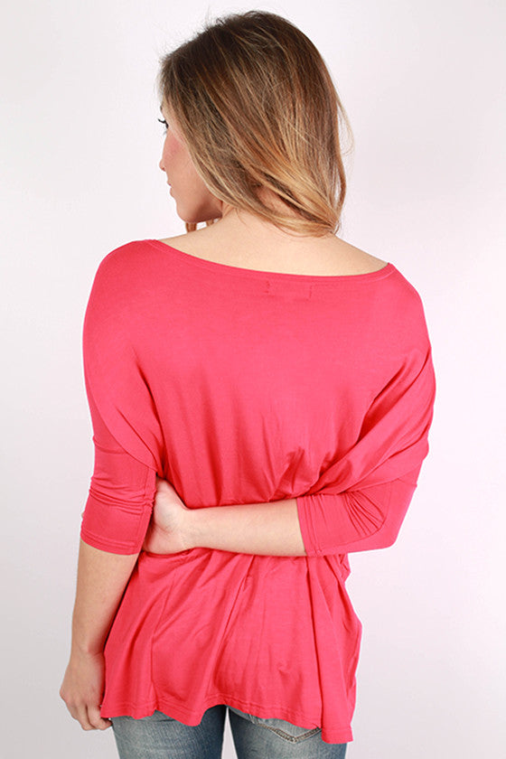 PIKO Mid Sleeve Tee in Watermelon