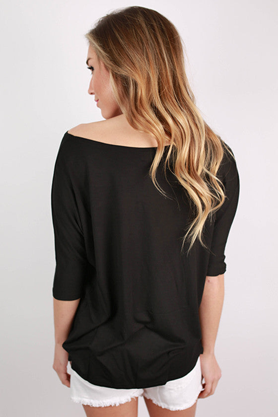 PIKO Short Sleeve Dolman Tee in Black