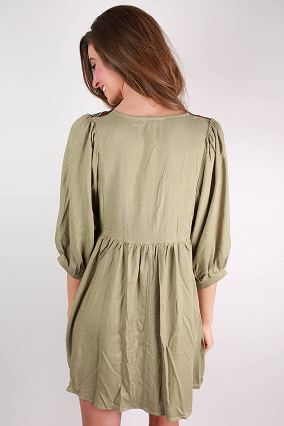 Stroll In Soho Dress in Sage
