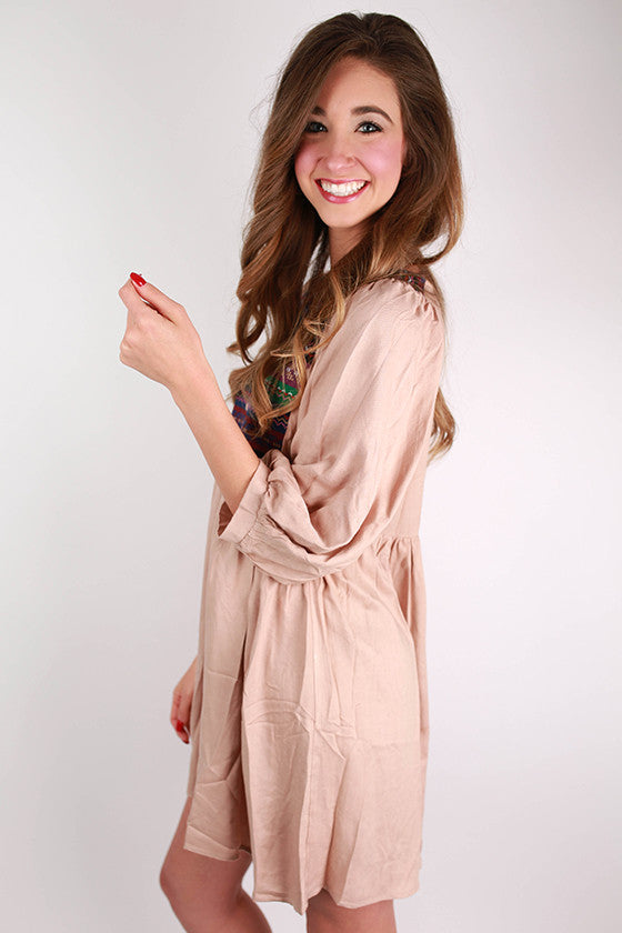 Stroll In Soho Dress in Latte