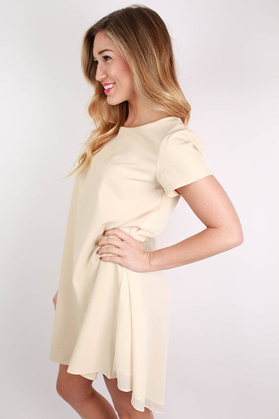 Sweet and Simple Dress in Beige