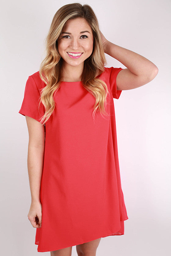 Sweet and Simple Dress in Red