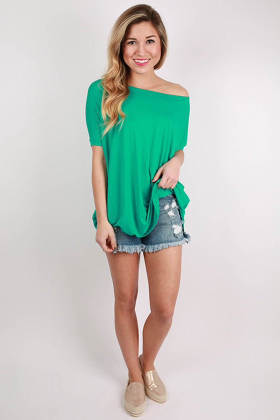 PIKO Short Sleeve Tee in Bright Turquoise