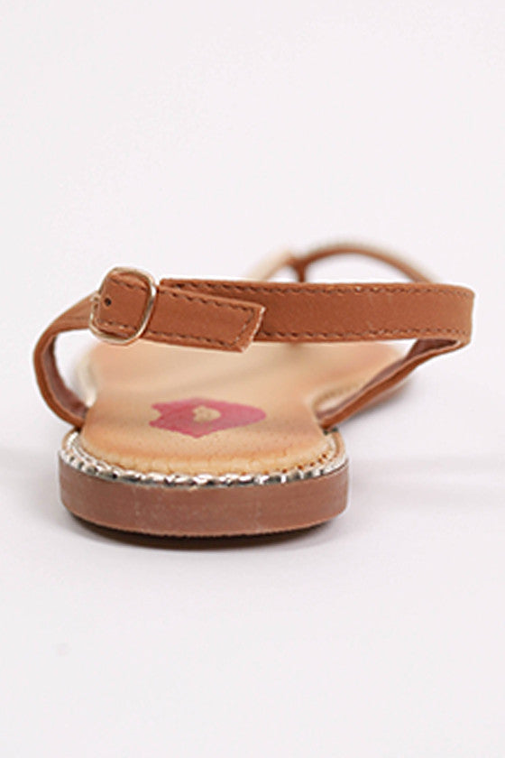 Sparkle Seaside Sandal in Copper