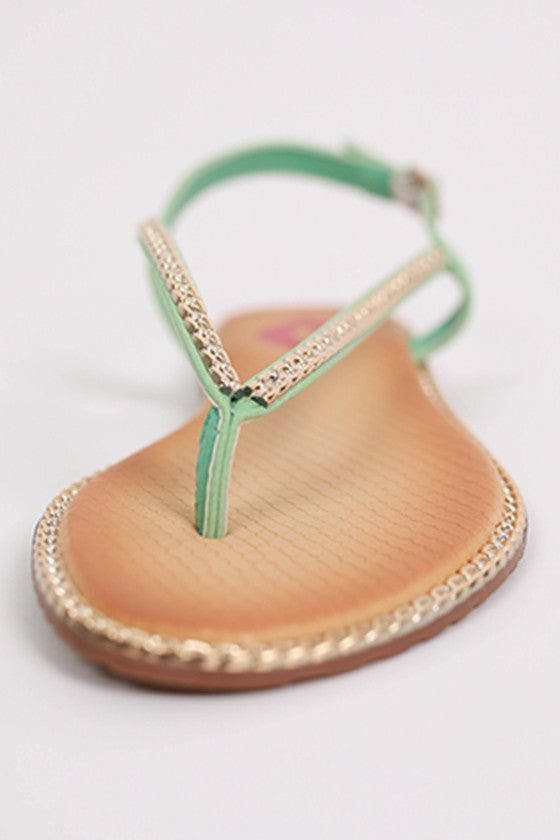 Sparkle Seaside Sandal in Mint