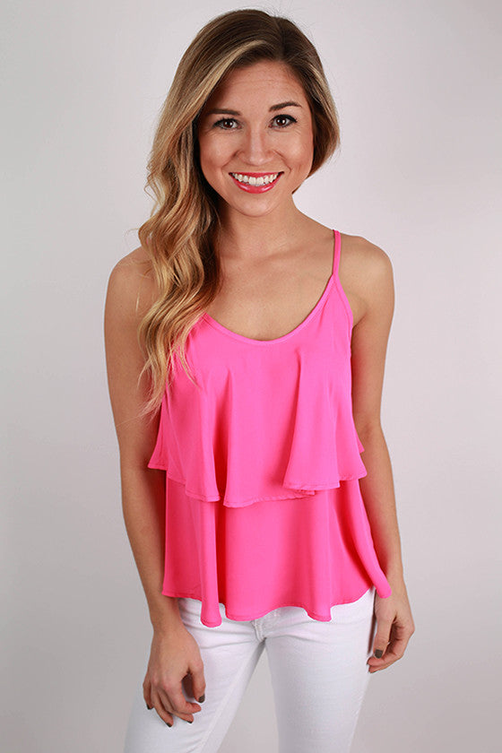Feeling Inspired Tank in Hot Pink