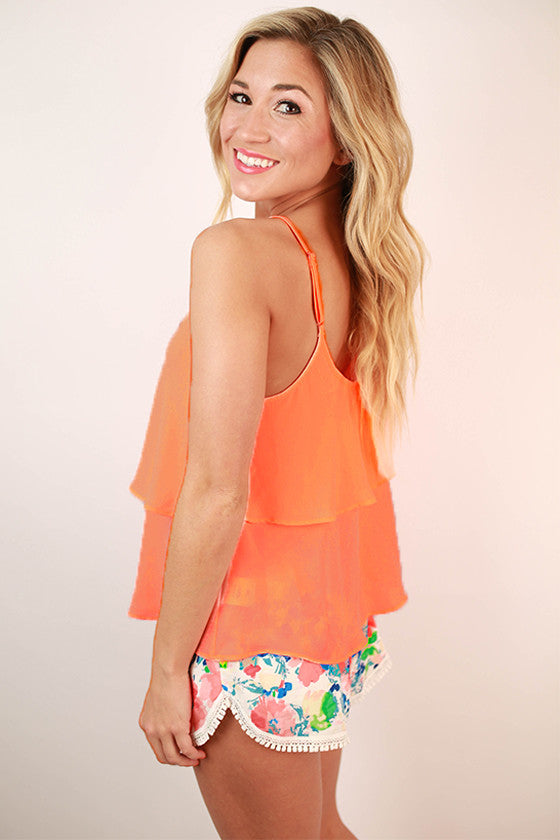 Feeling Inspired Tank in Bright Peach
