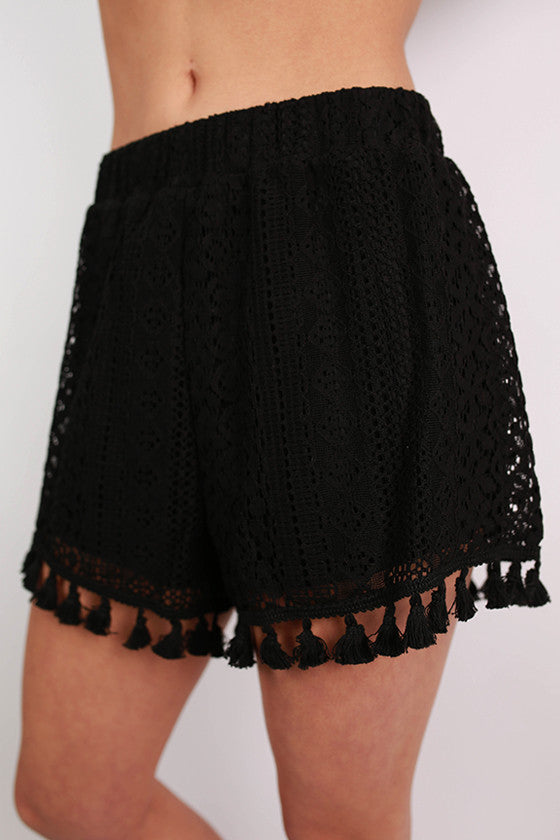 Beach Party Shorts in Black