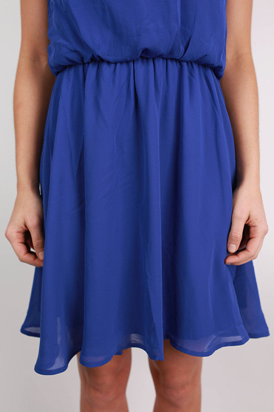 Instant Hit Dress in Royal Blue