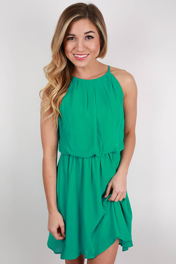 Instant Hit Dress in Jade