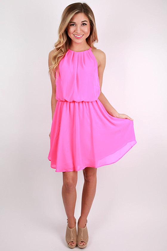 Instant Hit Dress in Hot Pink