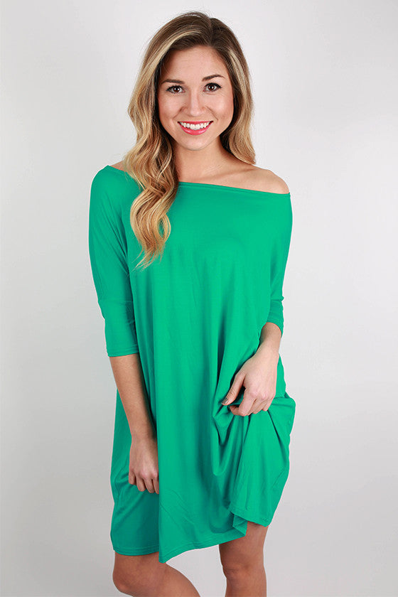 PIKO Mini Short Sleeve Tunic in Bright Turquoise