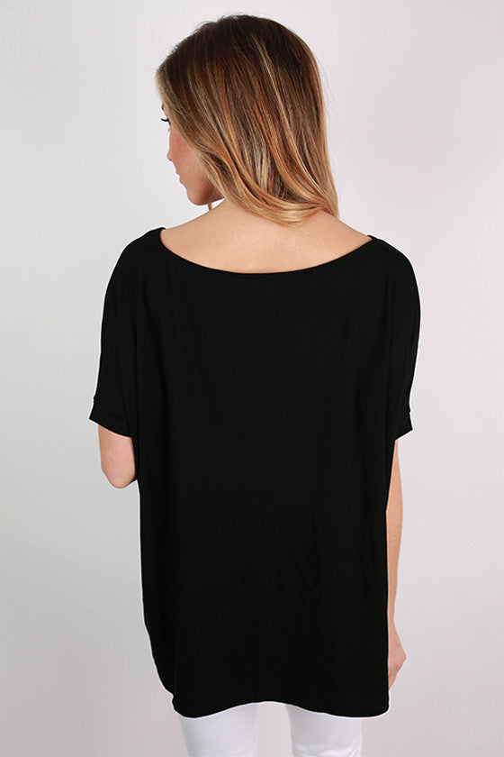 PIKO V-Neck Short Sleeve Tee in Black