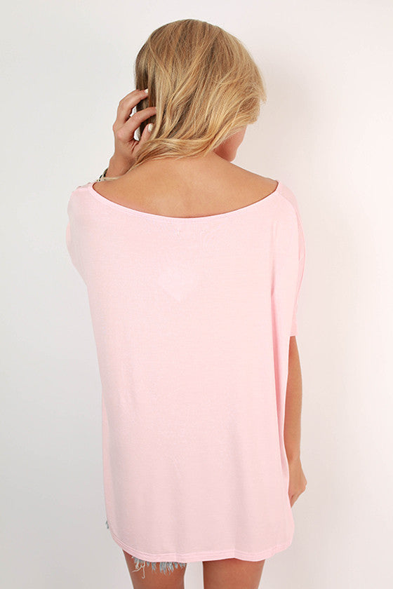 PIKO V-Neck Short Sleeve Tee in Light Peach