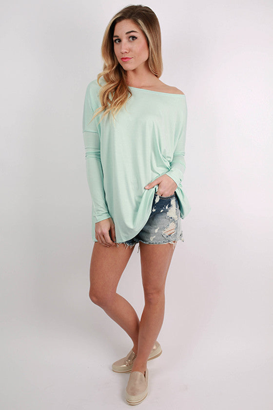 PIKO Long Sleeve Tee in Mint