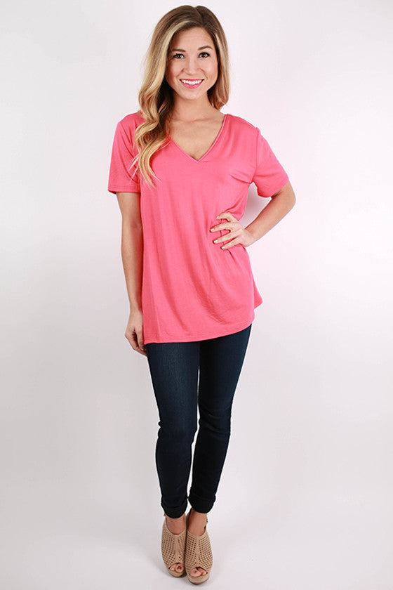 PIKO V-Tee in Coral