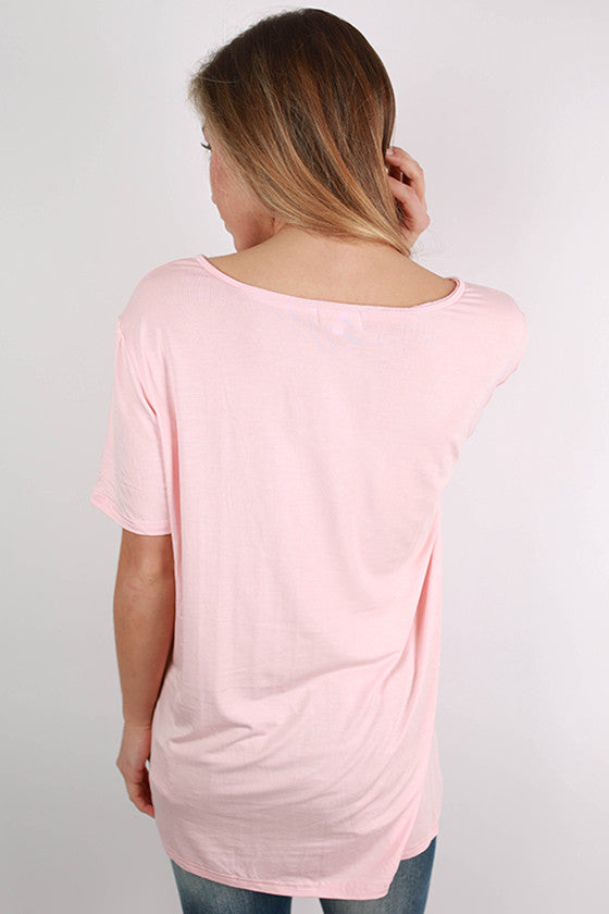 PIKO V-Tee in Light Peach
