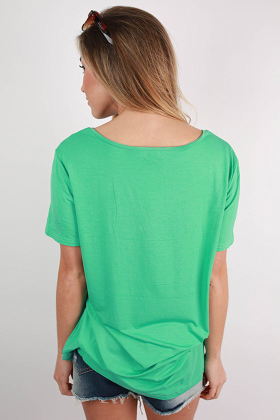 PIKO V-Tee in Light Turquoise