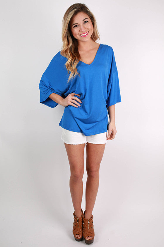 PIKO V-Neck Weekend Tee in Blue
