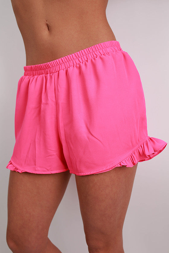 Sand To Sea Shorts in Hot Pink