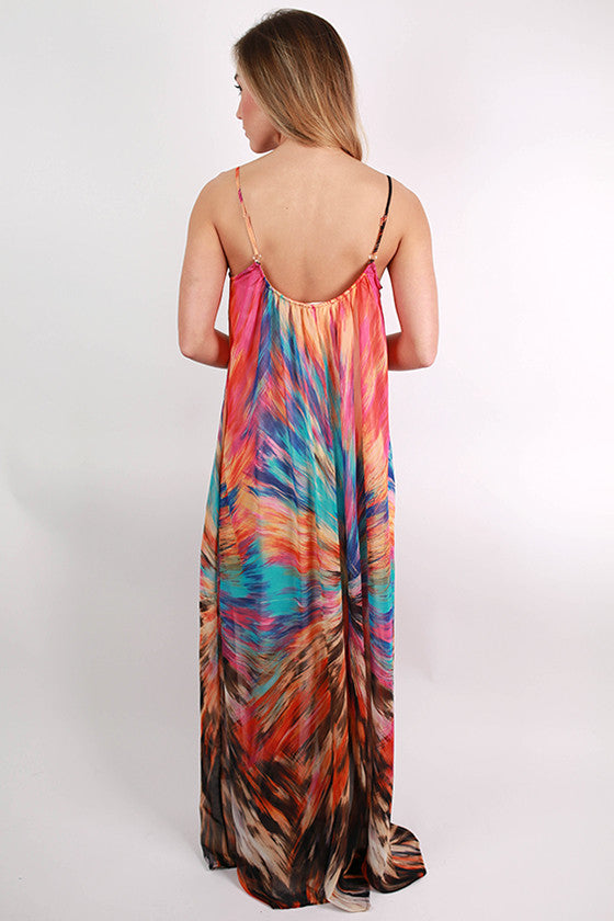 Pretty Voyager Maxi Dress in Orange